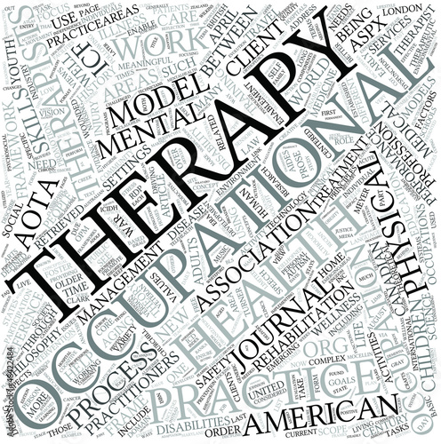 Occupational therapy Disciplines Concept