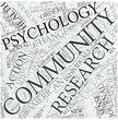 Community psychology Disciplines Concept