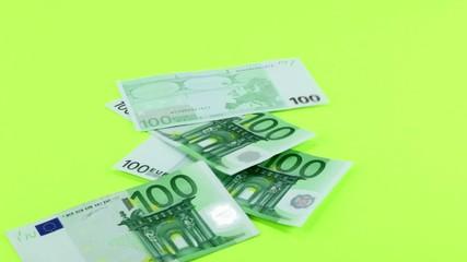 Geldregen Einhundert Euroscheine