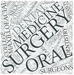 Oral and maxillofacial surgery Disciplines Concept
