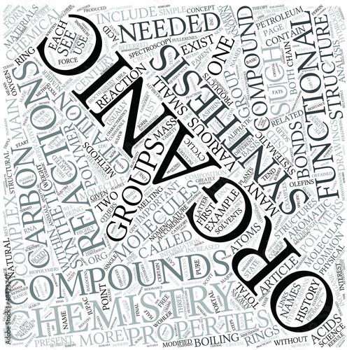 Organic chemistry Disciplines Concept