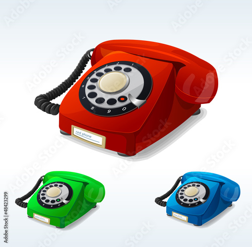 Vector old phones