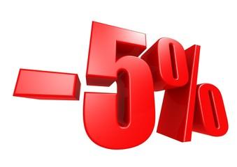 Minus 5 percent