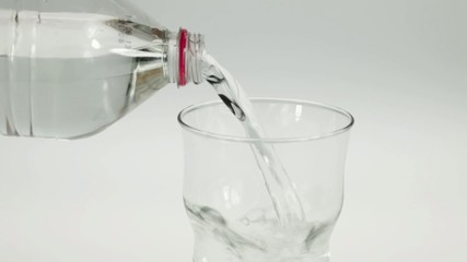 Mineral water poured