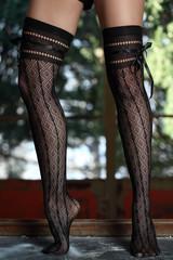 Gambe di ragazza con collant