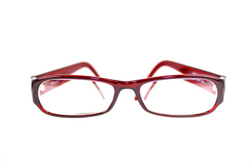 Modische Brille in rot