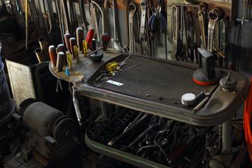 使い古された工具