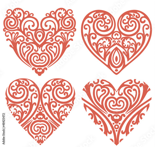 decorative-hearts-set