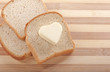 Bread and heart shaped butter