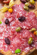 Traditional Italian salami with olives