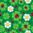 Seamless background flower theme 1