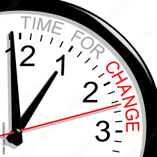 Clock. Time for change