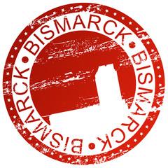 Stamp - Bismarck, USA