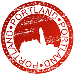 Stamp - Portland in Maine, USA