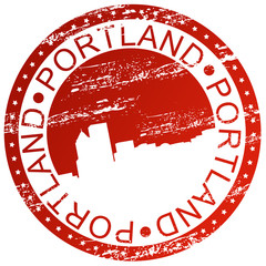 Stamp - Portland in Oregon, USA