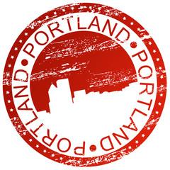 Stamp - Portland in Oregon, USA