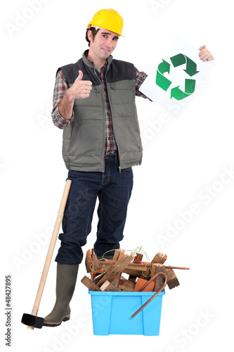 Manual worker recycling