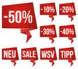Sale Sticker - Rabatt - Reduziert - Prozent