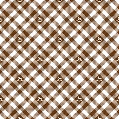 Krippenpferd auf Karo Tischdecken Muster - endlos