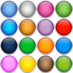 Colorful icon balls