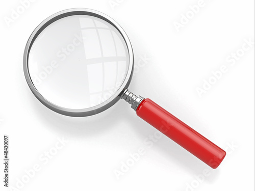 Magnifying glass. Loupe on white background