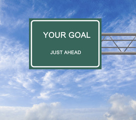 Sign to goal