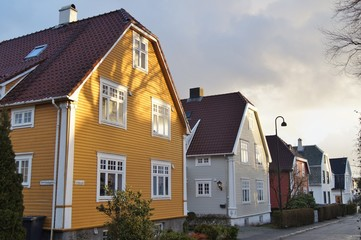 A residential street in Norway