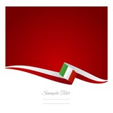 Italian flag red background vector