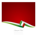 Italian flag green red background vector