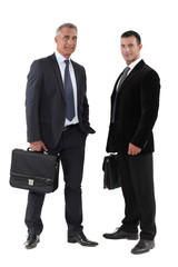 Two businessmen with briefcase