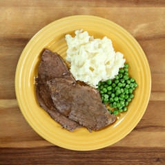 Beef Roast with Mashed Potatoes and Gravy