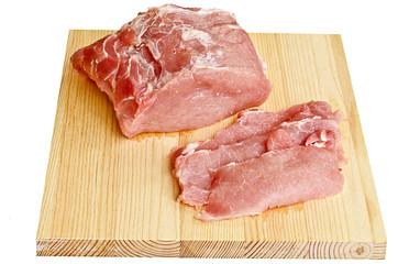 Meat - pork on a cutting board