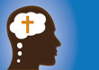 Thinking Head - thinking of God, Religious Person, Christian