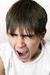 Teenager Yawning