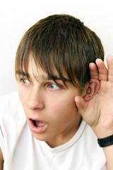 Teenager Listen To Something