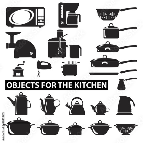 Set of cutlery icons silhouette