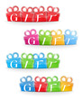 Set of gift banners