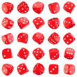 Red dice icons