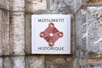 """Plaque """"Monument historique"""""""