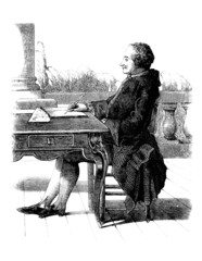 Man Writing - 18th century
