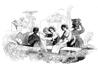 Traditional Washerwomen - Lavandières - 19th century