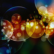 Abstract circular bokeh background of Christmas light