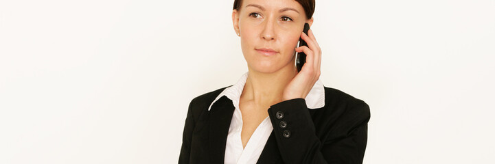 Geschäftsfrau am Handy