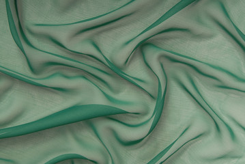 Green crepe de chine