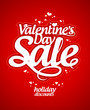 Valentine`s day sale design template.