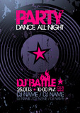Fototapety Dance All Night. Party design template with place for text.