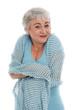 Ältere Frau fühlt sich rundherum wohl