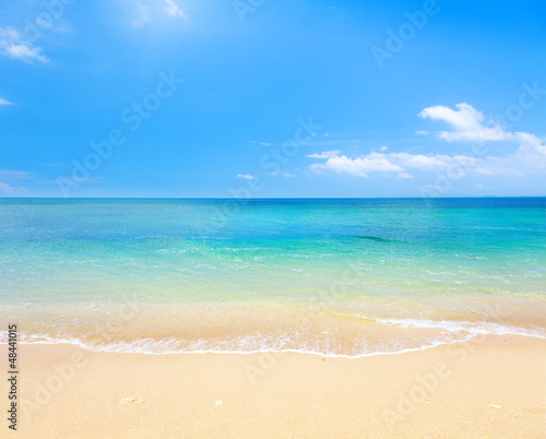 Fotobehang Golven beach and tropical sea