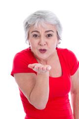 Liebe kennt kein Alter - Frau mit Kußmund
