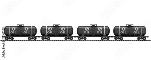 Railroad tank wagon on a white background.